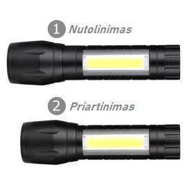 Mini LED Žibintuvėlis 3800LM ,Reguliuojamas Spindulys