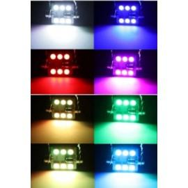 RGB C5W, 6 SMD - 12v led lempučių komplektas