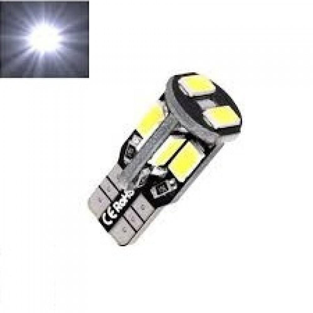 LED Lemputė CANBUS T10 / W5W 10 - LED