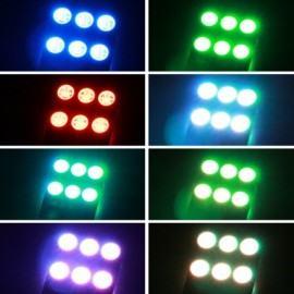 RGB T10 6 SMD - 12v led lempučių komplektas
